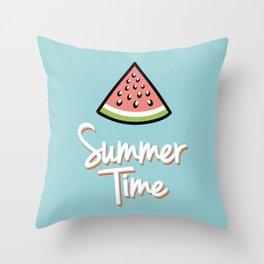 Watermelon summer time Throw Pillow