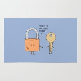 Lock and key Rug