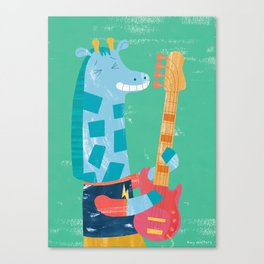 Giraffe Bass Player Canvas Print