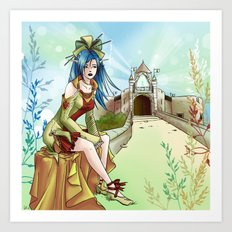 Reine elf Art Print