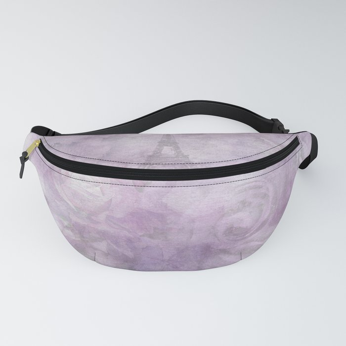 Floral Watercolor Collage Fanny Pack