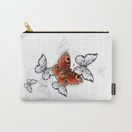 Peacock Butterfly Flight Carry-All Pouch