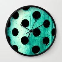 polka dots Wall Clocks featuring Polka dots by Elisabeth Fredriksson