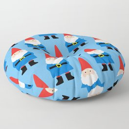 Gnome Repeat in Blue Floor Pillow