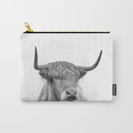 Highland Bull Portrait Carry-All Pouch