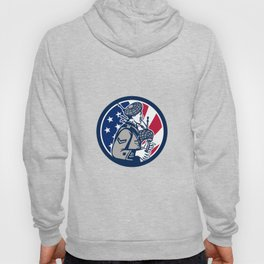 American Bagpiper USA Flag Icon Hoody