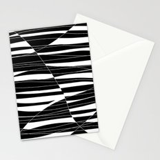 Carved Black and White Wave Stationery Cards