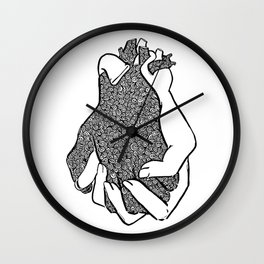 Entangled- Black Wall Clock
