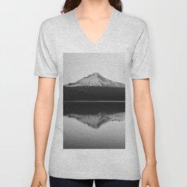 Wild Mountain Sunrise - Black and White Nature Photography Unisex V-Neck