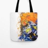 moto Tote Bags featuring Moto Splash by Joshua Meno