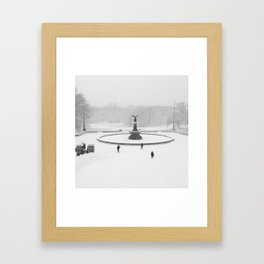 Snow Day NYC Framed Art Print