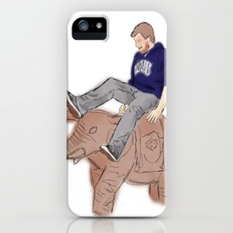 Christian rides an Elephant iPhone Case