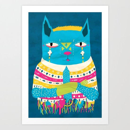 Transistor Cat Art Print