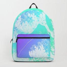 The Great Wave Purple Mint Aqua Backpack