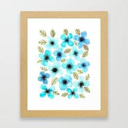 Lilly Blue Framed Art Print