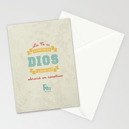 Confianza en Dios Stationery Cards