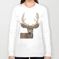 antlers Long Sleeve T-shirts featuring Antlers by ArtLovePassion