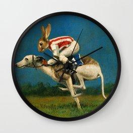 Whippet Racer Wall Clock