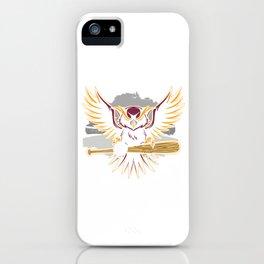 Baseball Pitcher Softball Players Batter Hitters Awesome Owl Baseball Gift iPhone Case