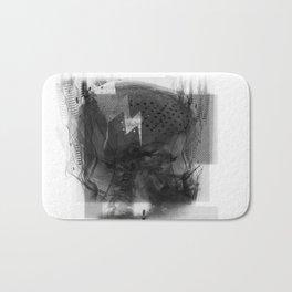 Brain Sync/Black & White Bath Mat