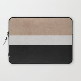 classic - natural, cream and black Laptop Sleeve