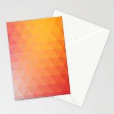 Retro  geometric shapes Stationery Cards