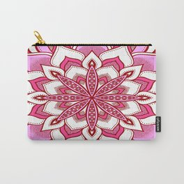 Mandala Flower : Pink Carry-All Pouch