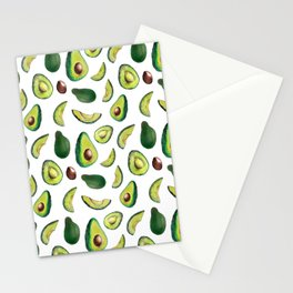 Avocado Pattern Stationery Cards