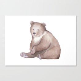 Bear Watercolor Canvas Print