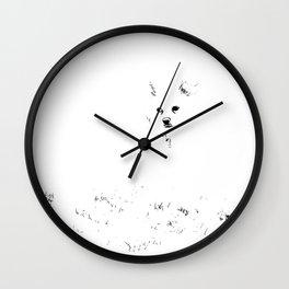 Bare Minimum Dog Wall Clock