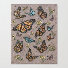 monarch butterflies. Canvas Print