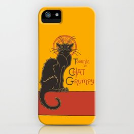 Tournee du Chat Grumpy... iPhone Case