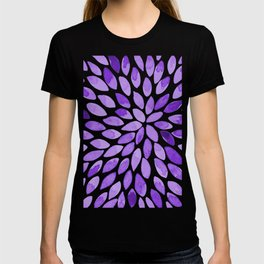 Watercolor brush strokes - ultra violet T-shirt