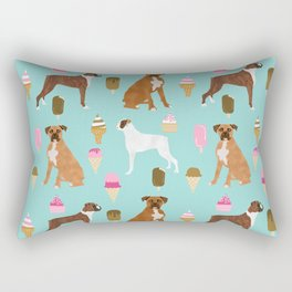 boxer ice cream dog lover pet gifts cute boxers pure breeds Rectangular Pillow