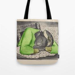 Vintage Folk Art - Sleeping Girl - Tote Bag