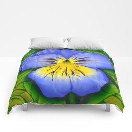 Purple Pansy Power Comforters