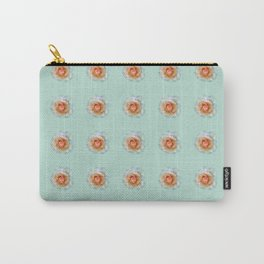 bed of roses: eau de nil wallpaper Carry-All Pouch