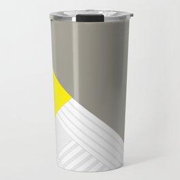 Minimal Triangles Yellow Travel Mug