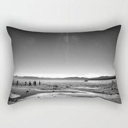 Lake Tahoe Beach in Black and White Rectangular Pillow