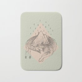 Wolf Chase Mountain Bath Mat