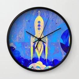 Cute Retro Rocket Wall Clock