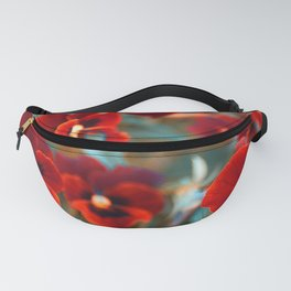 Red violas Fanny Pack