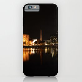 Liverpool At Night - The Salthouse Dock iPhone Case