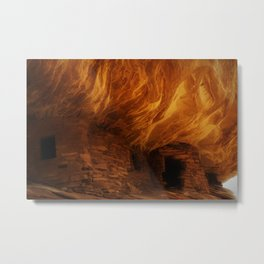 House on Fire with Modification Metal Print