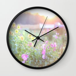 Country Garden & Truck Wall Clock