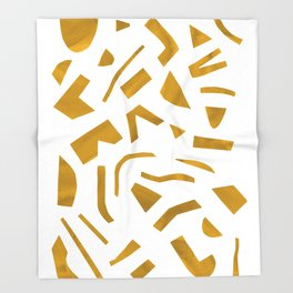 Cut out - Yellow Throw Blanket