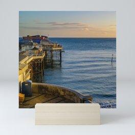 Cromer pier at sunrise Mini Art Print
