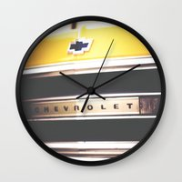 truck Wall Clocks featuring Old truck by Julia Goss Photography