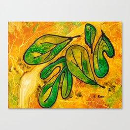 Sassafras Leaves Canvas Print