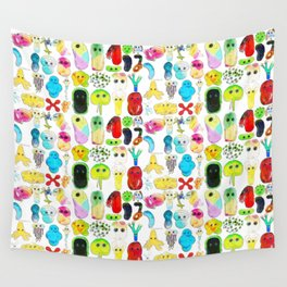 Rainbow Microbes Wall Tapestry